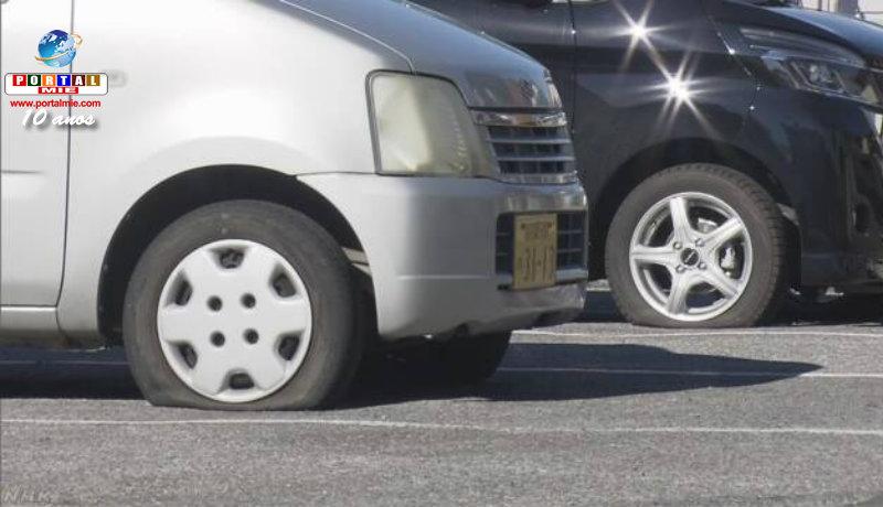 &nbspMais de 90 carros com pneus furados em Saitama