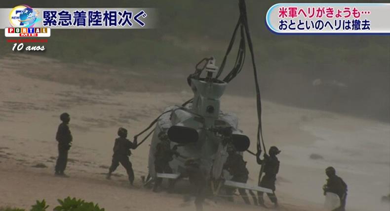 &nbspSérie de acidentes com aeronaves militares americanas preocupa residentes em Okinawa