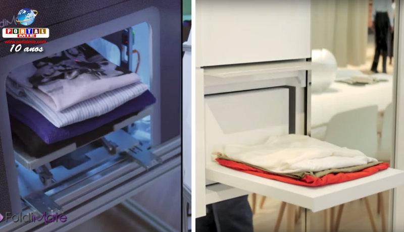 &nbspSonho de consumo: máquina que lava e dobra roupas