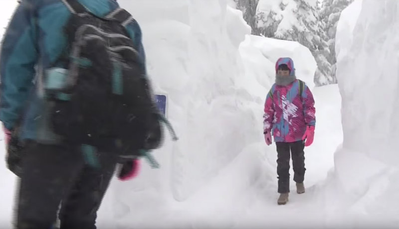 &nbspCorredor de neve nas alturas