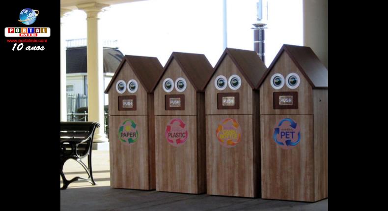 &nbspParque temático ganha 'latas de lixo inteligentes'