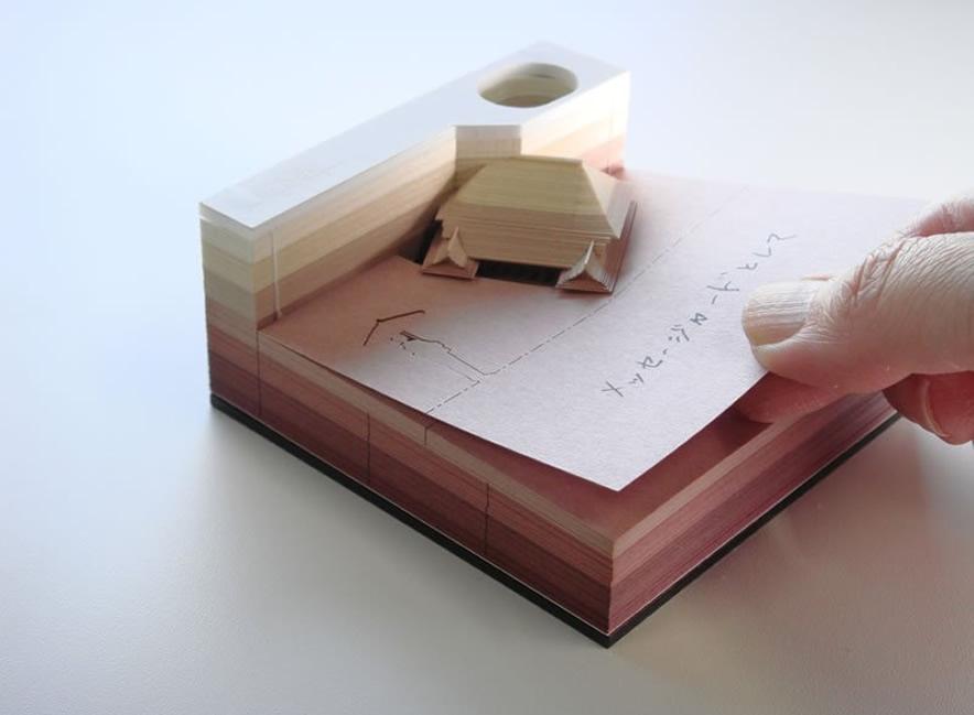 &nbspOmoshiroi Block: use cada folha desse bloco de notas e descubra um objeto escondido