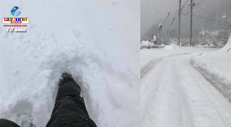 &nbspEstação de esqui suspende expediente por excesso de neve