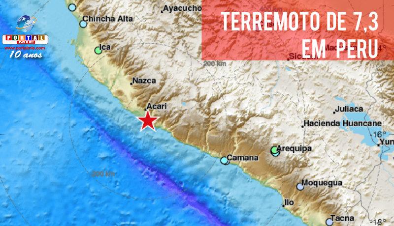 Terremoto no sul do Peru deixa dois mortos e 65 feridos