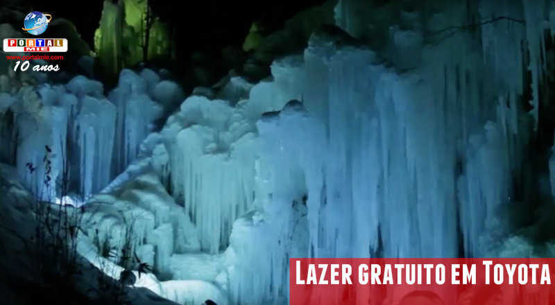 &nbspSincelos e cascata de gelo iluminados em Toyota: lazer de inverno