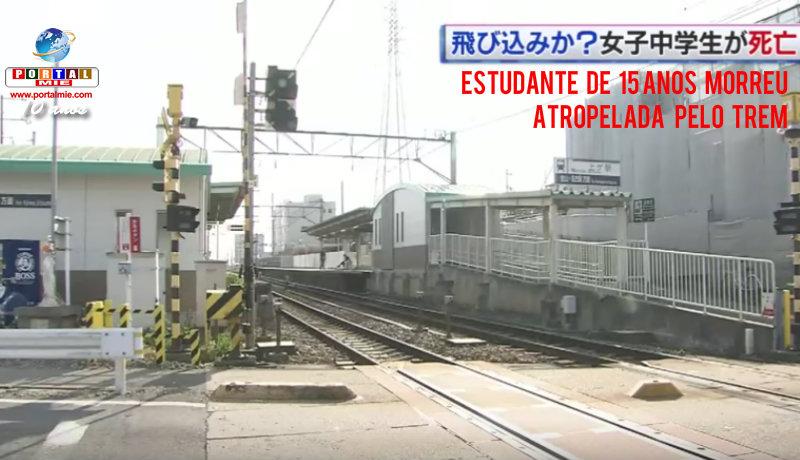 &nbspEstudante de 15 anos é atropelada nos trilhos do trem em Aichi
