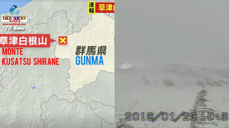 Erupção vulcânica deixa um morto no Japão