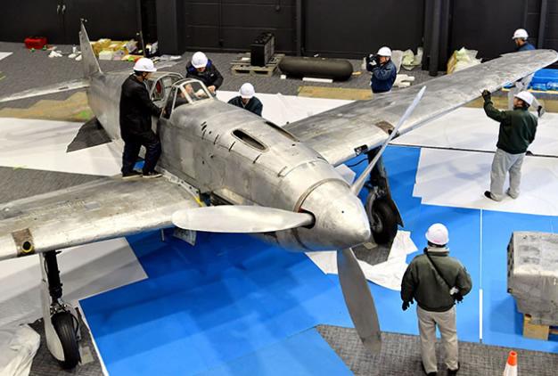 &nbspÚltimo caça 'andorinha' da 2ª Guerra Mundial estará em exibição em Gifu