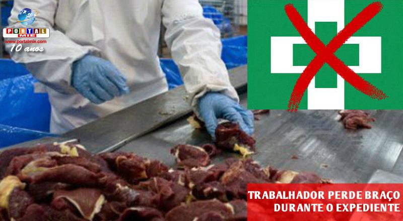 &nbspTrabalhador perde braço em indústria de carne em Gunma