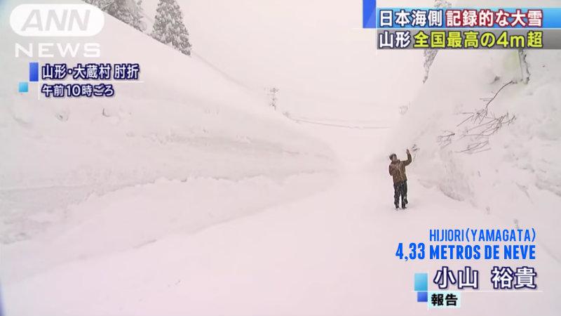 &nbspAs duas facetas: 4,33 metros de acúmulo e monumentos do Festival da Neve destruídos