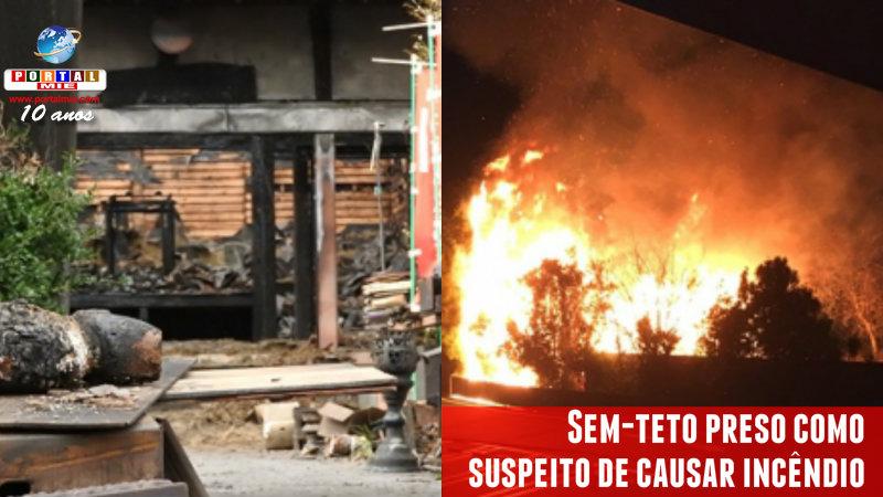 &nbspPolícia descobre a causa do incêndio do templo e prende sem-teto