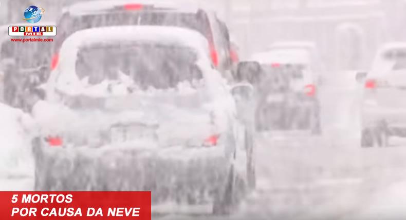&nbsp5 mortos por causa da neve que atinge a costa do Mar do Japão