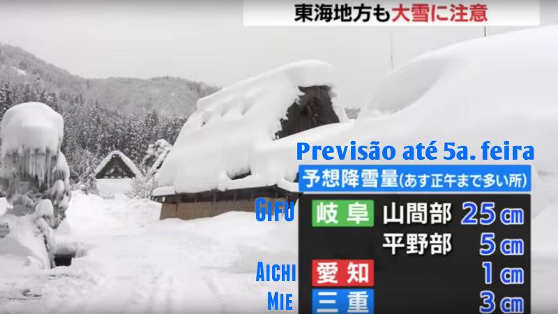 &nbspPrevisão de neve em Tokai