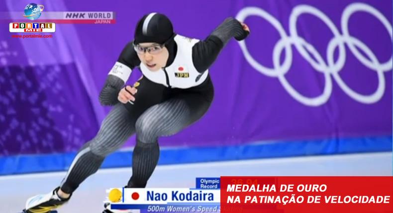 &nbspKodaira se torna a 1ª japonesa a conquistar medalha de ouro na patinação de velocidade