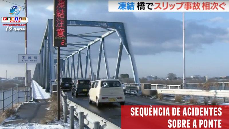&nbspAcidentes sequenciais na ponte sobre a divisa de Aichi e Gifu