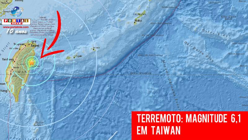 Sismo de magnitude 6.1 registado em Taiwan
