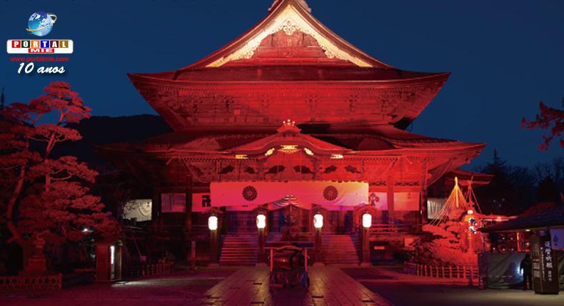&nbspEvento de iluminação na área do Zenko-ji em Nagano
