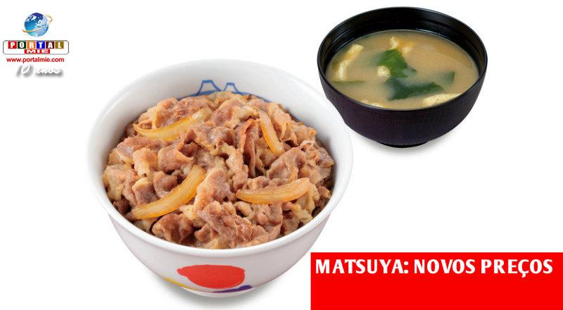 &nbspGyudon mais caro na rede Matsuya