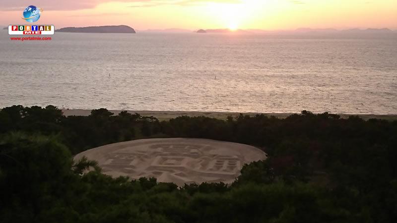 &nbspZenigata Sunae, incrível arte de areia no formato de uma moeda