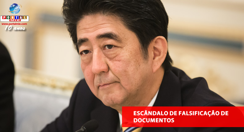 &nbspEscândalo de falsificação de documentos afeta primeiro-ministro do Japão