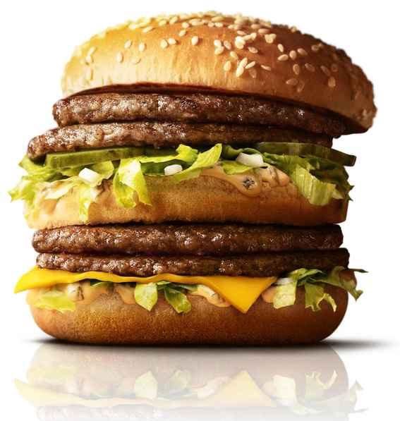 &nbspDobro de fatias de hambúrguer no McDonald's