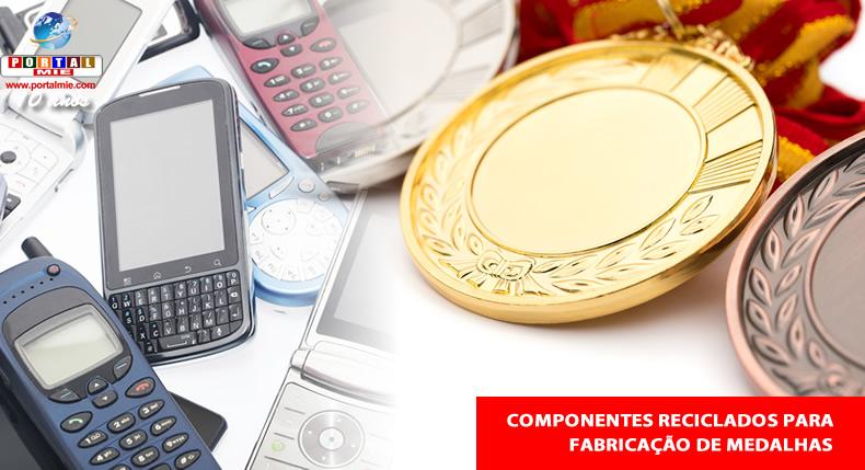 &nbspAgências dos Correios coletam celulares usados para fabricação de medalhas olímpicas
