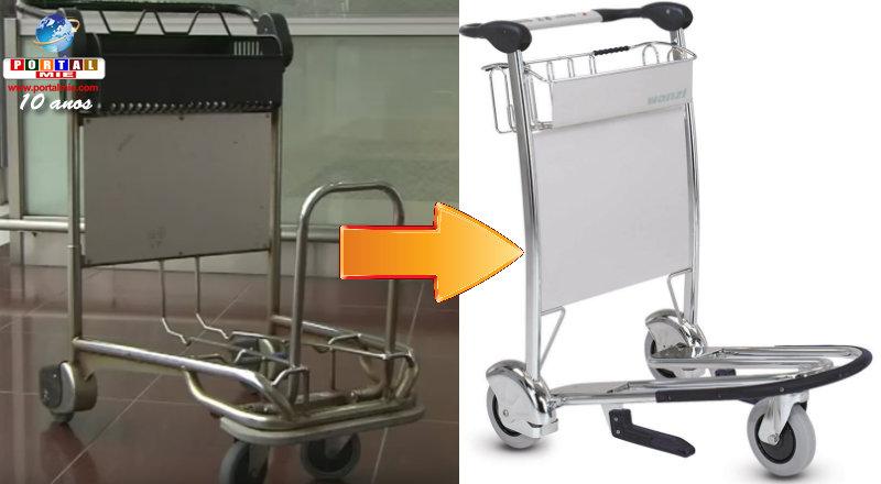 &nbspCentrair: novos carrinhos de malas suportam até 120Kg