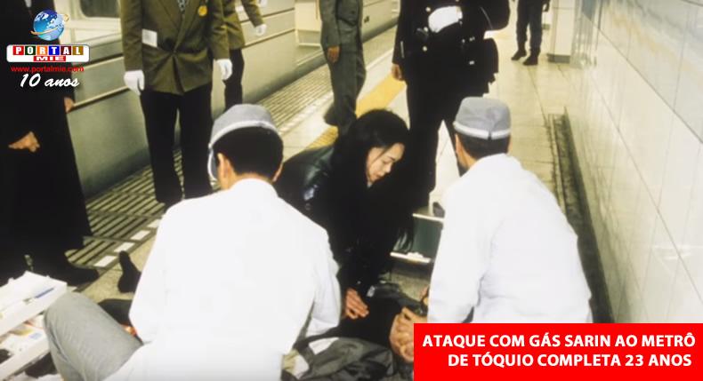 &nbspJapão marca 23 anos do ataque com gás sarin ao metrô de Tóquio