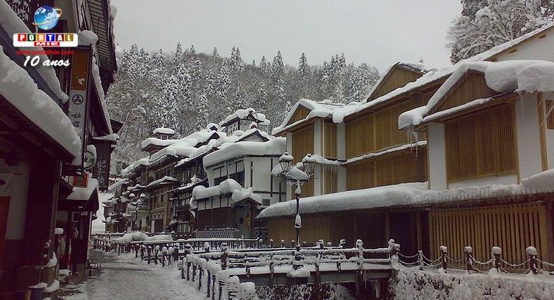 &nbspO charme e a beleza da 'vila de inverno' Ginzan Onsen