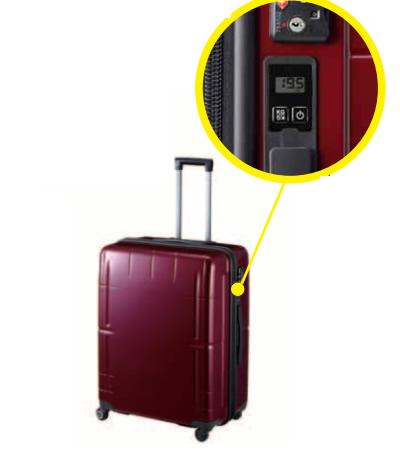 &nbspMala que mostra o peso é uma boa opção para os viajantes