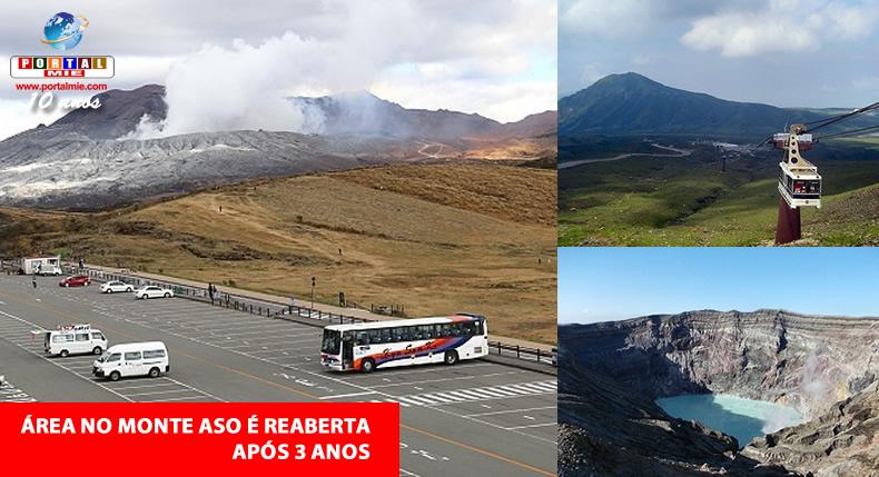 &nbspApós diminuição de atividade vulcânica, Monte Aso retoma o turismo