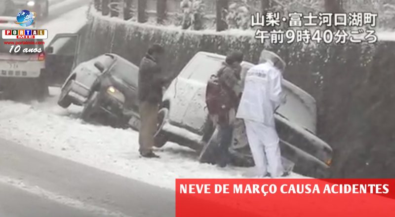 &nbspNeve fora de época causa acidentes e incidentes