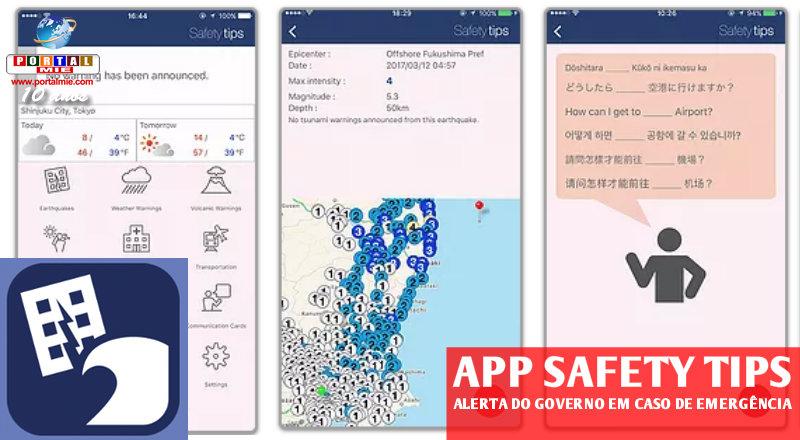 &nbspJ-Alert para estrangeiros em app para iOS e Android