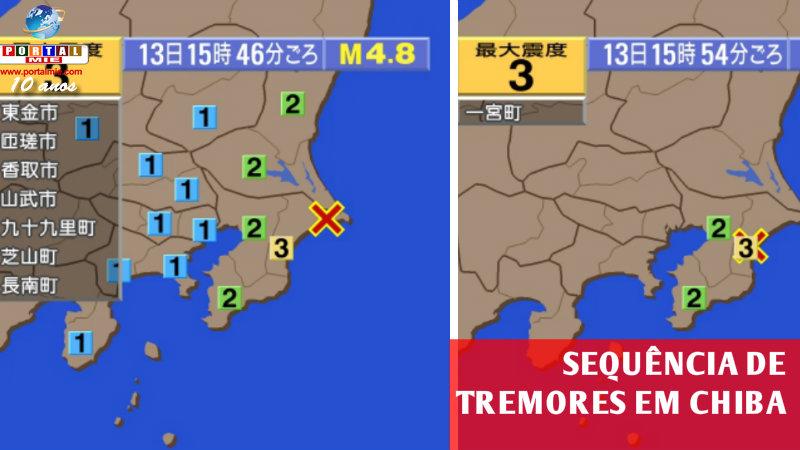 &nbspTerremotos sequenciais em Chiba