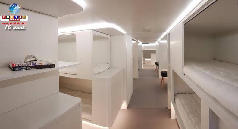 &nbspAirbus transformará porão da aeronave em quartos com camas