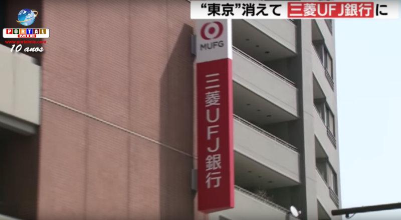 &nbspBanco Mitsubishi Tokyo UFJ muda de nome