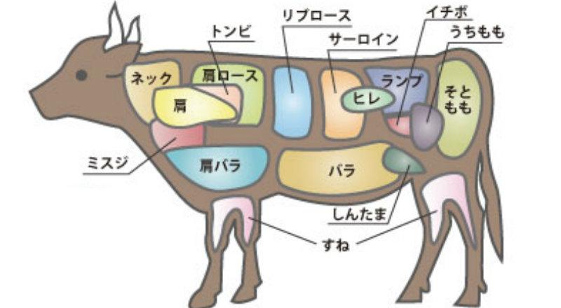 &nbspCarne bovina: nomes em japonês e português