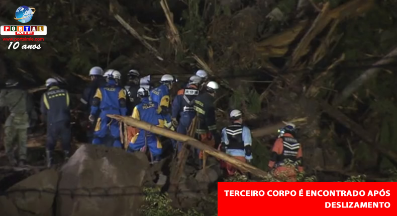 &nbspMais um corpo é encontrado após deslizamento no sul do Japão