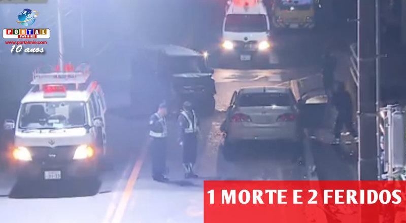&nbspVítima fatal e 2 feridos no acidente com 3 veículos