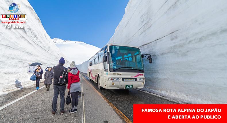 &nbspRota alpina com paredões de neve de 17 metros de altura é aberta ao público