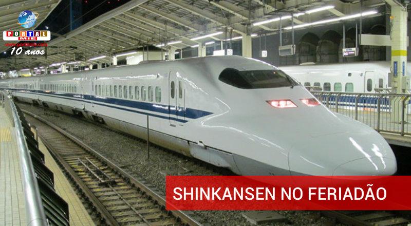 &nbspShinkansen com picos de lotação no Golden Week