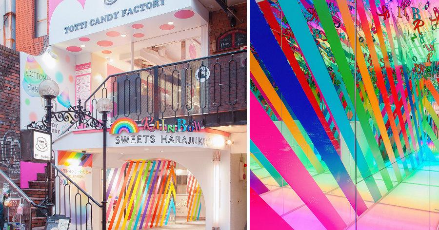 &nbspInédita no mundo: doceria arco-íris no Japão