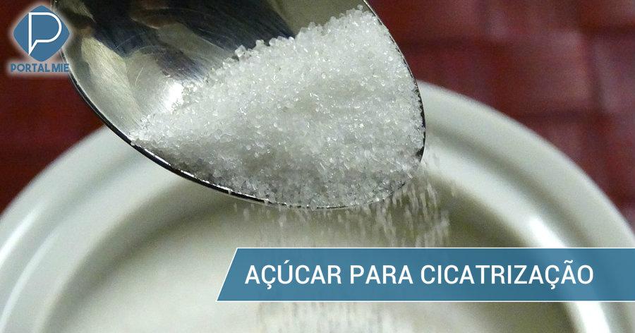 &nbspSabia que o açúcar é um cicatrizante natural?