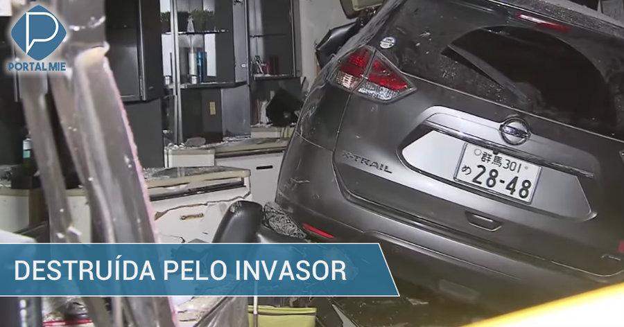 &nbspBarbearia é destruída por um carro invasor