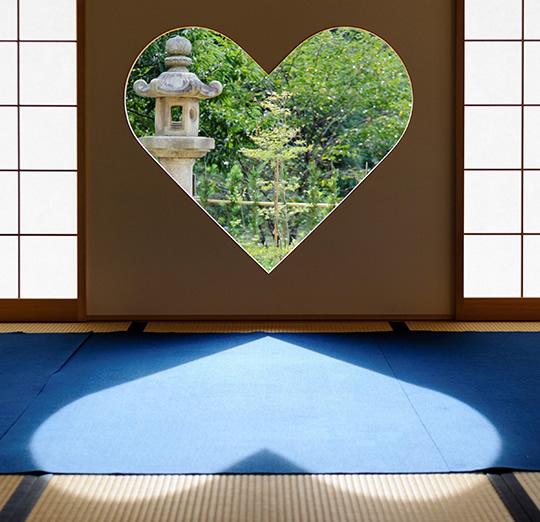 &nbspVisitantes vão a templo em Quioto só para ver 'janela' em formato de coração