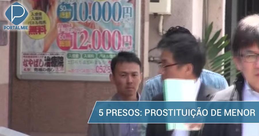 &nbspCinco pessoas presas: prostituição de garota de 13 anos
