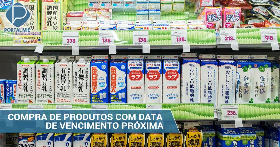 &nbspGoverno encoraja compra de produtos próximos da data de vencimento
