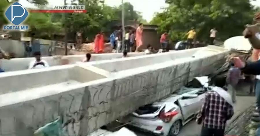 &nbspQueda de viaduto na Índia deixa pelo menos 18 mortos