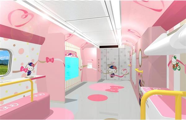 &nbspShinkansen todo decorado de Hello Kitty