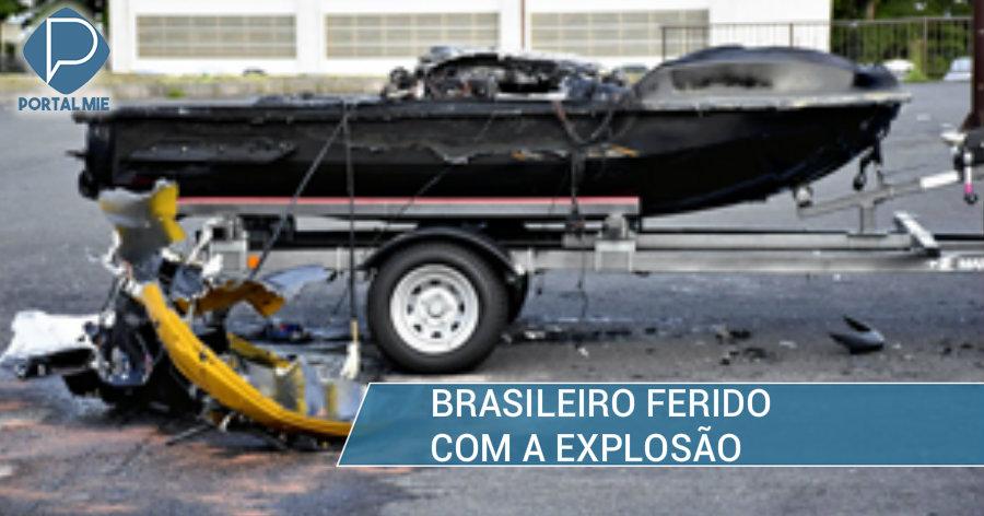 &nbspMoto aquática de brasileiro explode